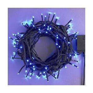 LEDストレートコード100球延長用約10m/発光色青色/コード色ブラックコントローラー付 sungarden-exterior