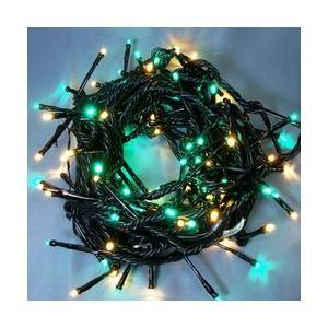 LEDストレートコード100球(ブラックコード)・約10m/ハニーゴールド・緑コントローラー付 sungarden-exterior