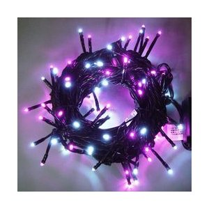 LEDストレートコード100球(ブラックコード)・約10m/白・青コントローラー付 sungarden-exterior