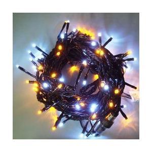 LEDストレートコード100球(ブラックコード)・約10m/白・黄コントローラー付 sungarden-exterior