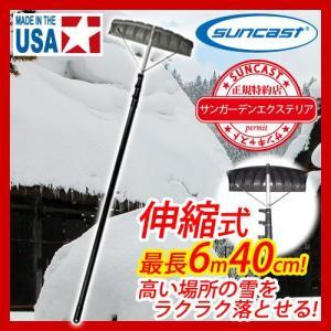 雪落とし棒 伸縮式ルーフレーキ SRT2100 サンキャスト suncast スノーツール 雪かき用 除雪用品 除雪機 送料無料|sungarden-exterior