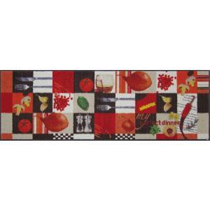 キッチンマット ノンスリップマット クックマット 野菜 ベジタブル B004C 60×180cm|sungen-store