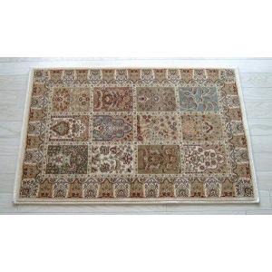玄関マット  ベルギー製 ウィルトン織り ヒートセット糸 マット 60×90cm アイボリー|sungen-store
