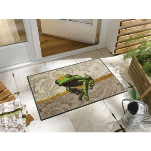 テラスマット ガーデンマット エントランスマット カエル H005A  50×75cm|sungen-store