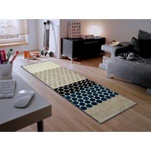 キッチンマット エントランスマット グラフィックデザイン ドット柄 J003C 60×180cm|sungen-store