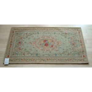 玄関マット ゴブラン織りマット 68×120cm グリーン|sungen-store