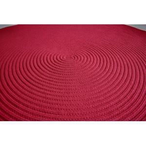 ホットカーペット・床暖対応品 円型ラグ 丸 ワイン チューブラグ 直径200cm 円形ラグ センター敷き|sungen-store|03