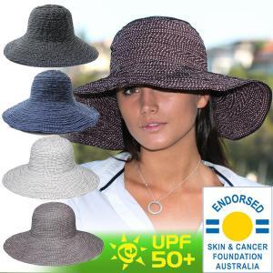帽子 レディース UV つば広 折りたたみ UVカット 帽子...