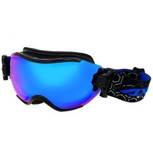 スノーゴーグル メンズ 男性用 AXE アックス ax750-wcm-bk スキー スノボー ゴーグル ブルーミラー|sunhat