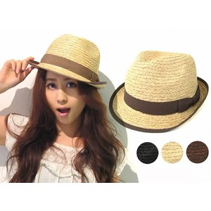 ストローハット 4562604 レディース メンズ 帽子 麦わら帽子 ラフィアハット UVカット|sunhat