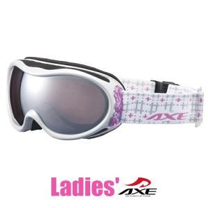 スノーゴーグル レディース 女性用 AXE アックス ax590 wmd wt ホワイト スキー スノボー ミラーレンズ|sunhat