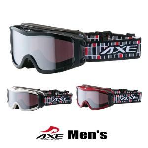 スノーゴーグル メンズ 男性用 AXE アックス omw-785 wt bk re ホワイト ブラック レッド スキー スノボー|sunhat