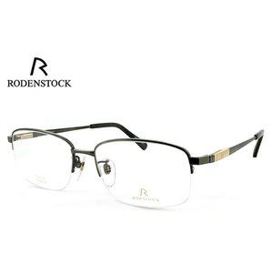 日本製 ローデン ストック 眼鏡 めがね メンズ 2サイズ RODENSTOCK R0141 B チタン 度付き & 度なし 対応 薄型 UVカットレンズ付き ダテ眼鏡 バネ蝶番|sunhat
