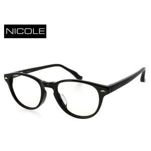 NICOLE 眼鏡 メガネ ボストン型 13232-1 [ ジャパンフィットモデル ] ニコル メンズ  送料無料 [ 度付き・度なし 両方対応 UVカットレンズ付 ] 老眼鏡 sunhat