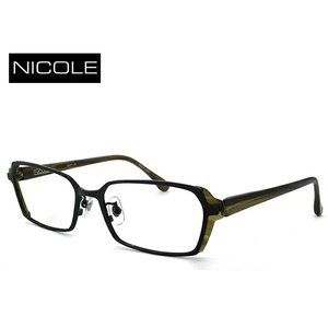 ニコル メガネ メンズ NICOLE ni-7002-1 日本製 眼鏡 男性用 スクエア [ 度付き 伊達メガネ 老眼鏡 シニアグラス 乱視 強度 にも対応 ] sunhat