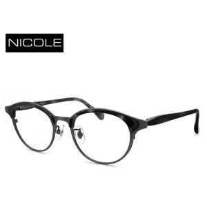 ニコル メガネ メンズ NICOLE ni-7003-3 日本製 眼鏡 ブロータイプ ボストン型  [ 度付き 伊達メガネ 老眼鏡 シニアグラス 乱視 強度 にも対応 ] sunhat