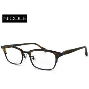 ニコル メガネ メンズ NICOLE ni-7004-1 日本製 眼鏡 男性用 ウェリントン ブロータイプ [ 度付き 伊達メガネ 老眼鏡 シニアグラス 乱視 強度 にも対応 ] sunhat