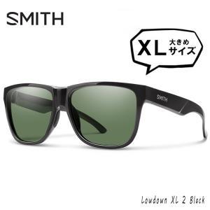 SMITH スミス 偏光サングラス 大きめ サイズ Lowdown XL2 807 Black polarized Gray Green XLサイズ メンズの画像