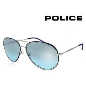 ポリス ミラーレンズ サングラス police s8299m 502x メンズ 男性向け ライト ブルーミラー ティアドロップ メタル 国内正規品|sunhat