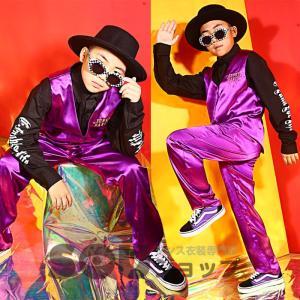 商品名:キッズ用ジャズダンス衣装 素材:高級ポリエステル  カラー:パープル サイズ: 120cm:...