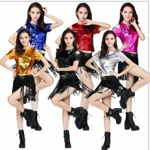 ■商品名 :ダンス衣装  ■カラー :6色:レッド 濃いピンク シルバー ゴードル ブルー ブラック...