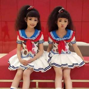 ダンス衣装 海軍風 ダンス 衣装 子供 女の子 ダンス衣装 セットアップ セーラー服 ダンス 衣装 ガールズ キッズ チア チアガール ダンス衣装