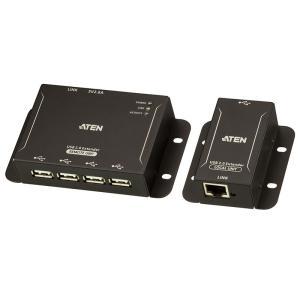 ATEN UCE3250 4ポート USB2.0 ツイストペアケーブルエクステンダー|sunmuse