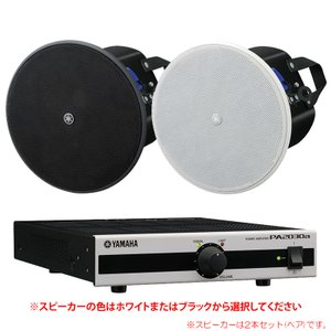 YAMAHA VXC4 + PA2030a お店のBGMセット【天井埋め込み型】 sunmuse