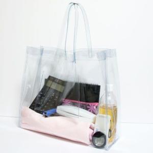 【メール便不可】抗菌 ビニールバッグ Lサイズ 透明 日本製