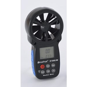 HOLDPEAK デジタルアネモメーター(風速計)  中型サイズの高機能版  持ち運びやすいデジタル...