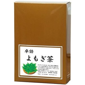 自然健康社 国産よもぎ茶 1g×45パック カップ出し用糸付きティーバッグ (1g×45包)