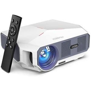 COOAU プロジェクター 小型 家庭用 スマホ対応 5000LM LED 1080PフルHD対応 ...