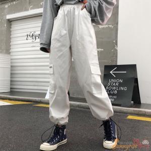 レディース ダンス衣装ボトムス カーゴパンツ ロゴ スポーティ ユニセックス ダンス 衣装 韓国 フ...