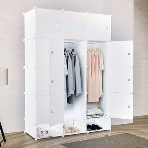 ワードローブ クローゼット 組み立て式 収納棚 収納ボックス 衣類ケース 衣類収納 防汚 大容量|sunpie