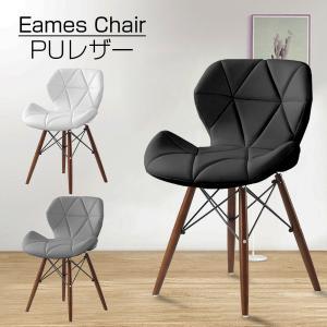 ダイニングチェア 1脚 イームズチェア リプロダクト クッション 木脚 木製 椅子 いす おしゃれ チェア ホワイト グレー ブラック sunpie