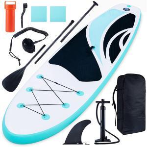 スタンドアップパドルボード 初心者 sup サップボード 釣り用 1人乗り ブルー PVC材質 インフレータブル パドルボード|sunpie