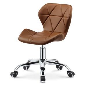 オフィスチェア デスクチェア キャスター レザー 革張り ブラウン 昇降機能 360度 回転チェア 高さ調節 調整 パソコンチェア 椅子 いす 1脚 sunpie