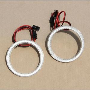 カバー付 LEDイカリング イクラリング SMD 外径80mm 内径65mm ブルー青/ホワイト白選択 ヘッドライト フォグランプ加工に T10タイプアダプター 2個セット
