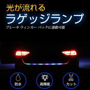 光が流れる RGB LEDテープライト ラゲッジ増設 フルーカラー シリコンチューブ 防水 カット可能 ウィンカー ブレーキ バック スモール sunpie