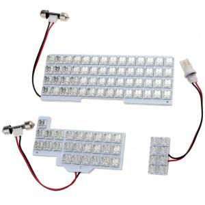 スズキ スペーシア/スペーシアカスタム MK32S MK42S LEDルームランプセット 室内灯 3点89発 ホワイト 専用設計、取付簡単! sunpie