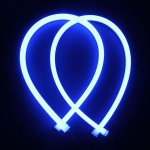 シリコンチューブ 柔軟 LEDデイライト 60cm 335チップ ブルー ウインカー等に 高輝度114発 防水・カットOK!青 2本 一年保証|sunpie