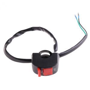 汎用 オン オフ ON/OFF スイッチ ハンドル 簡単取付 2本線 バイクに|sunpie
