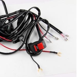 ハンドルスイッチ ON OFF 汎用タイプ 最大70W対応 配線キット ヒューズ・リレー付き 配線ギボシ仕様 オン オフ バイク用 HID LED スイッチ|sunpie