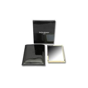YVES SAINT LAURENT イヴ サンローラン ハンド バック ミラー ゴールド ケース 付き|sunplace