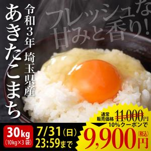 米 30kg お米 白米 あきたこまち 新米 送料無料 平成...