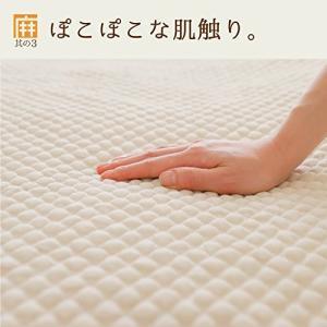 麻を使った天然素材の肌触り 快適敷きパッド 麻夢物語 100×205cm シングル 水洗い 通気性 敷きシーツ|sunrise-eternity