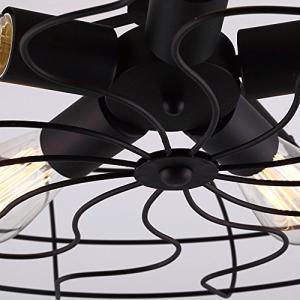 BAYCHEER インダストリアル シーリングライト HL371436 鉄製 E26金口 110V レトロ風 5灯 ブラック|sunrise-eternity