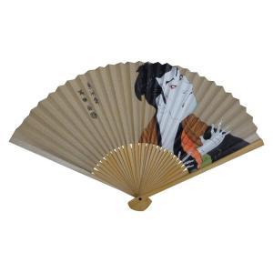 伊藤常 男性用紙扇子 7寸5分30間 白竹 木版摺 奴江戸兵衛 C6308