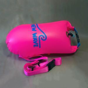 New Wave スイムブイ 水泳用の安全なベルト付き浮き袋 オープンウォータースイミング/トライア...
