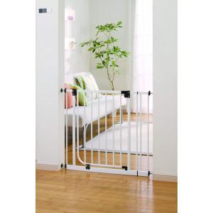 日本育児 ベビーゲイト ベビーズゲート ホワイト 6ヶ月~24ヶ月対象 扉開閉式のシンプルな突っ張りゲイト|sunrise-eternity